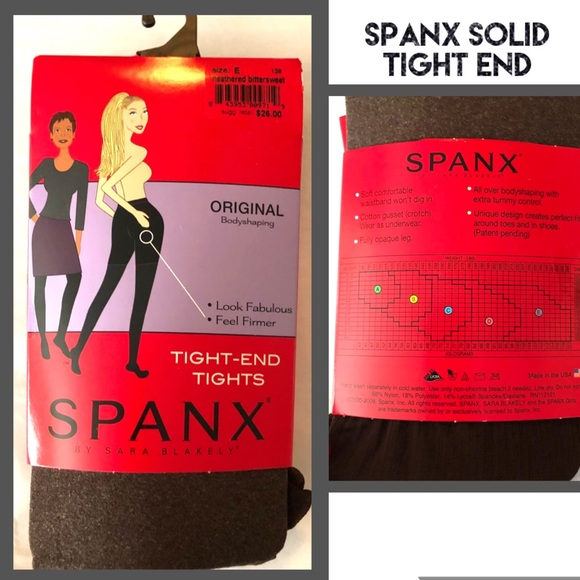 SPANX Accessories - SPANX Tights Heathered Bittersweet Solid Brown
